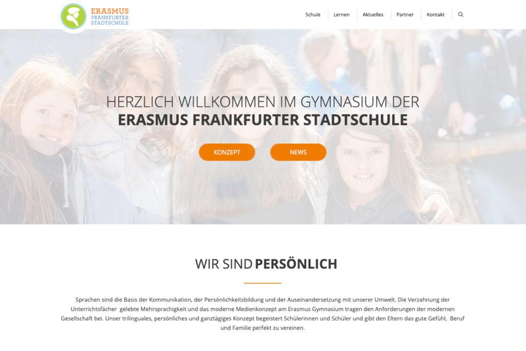 News: Neue website ~ Erasmus Gymnasium Frankfurt ~ Trilinguale weiterführende Privatschule